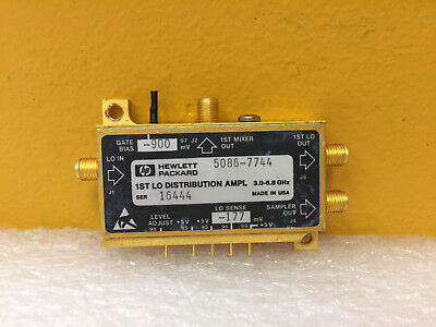 Hp Agilent 5086-7744 3 To 6.8 Ghz Sma F Amplifier-yig Oscillator