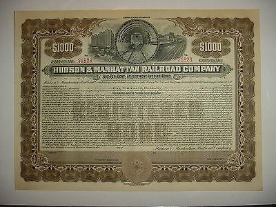 Hudson & Manhattan Railroad Company Bond Stock Certificate New York Jersey PATH