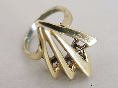 Sterling Silver Ring with Gold Vermeil Size 5.5 4.4g [3075]