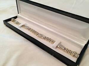 Certified Italian 14K Gold Diamond Bracelet - 54.4grams + 2.2ct Winston Hills Parramatta Area Preview