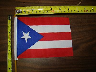 Puerto Rico Rico car truck 4x6 inch flag for parade show license plate topper