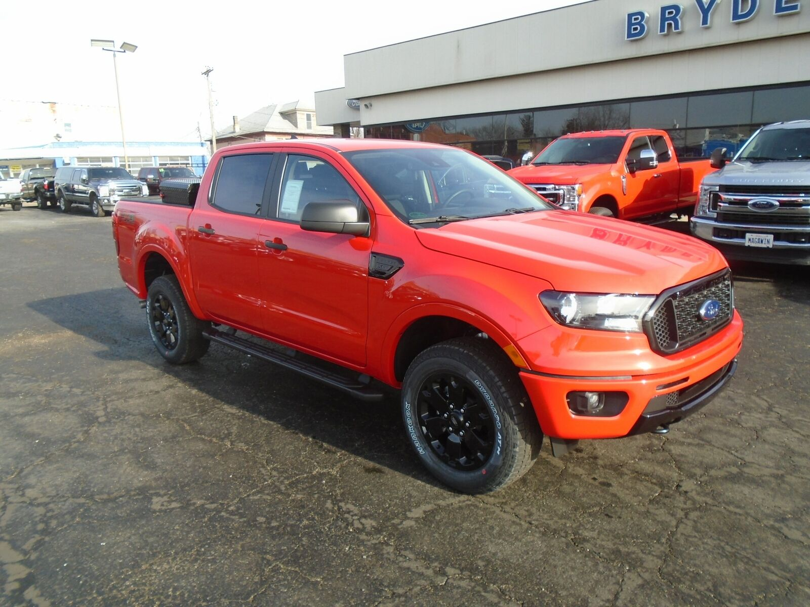 2020 Ford Ranger XLT 4X4 3 Miles Race Red Truck 2.3L EcoBoost Engine with Auto S