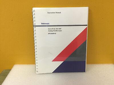 Tektronix 070-8688-03 Tas475 Tas485 Analog Oscilloscopes Instruction Manual New
