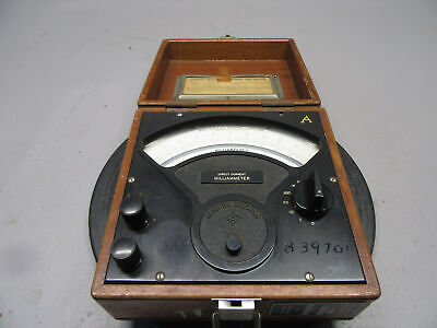Vintage Sensitive Research Instrument Model S Direct Current Milliammeter