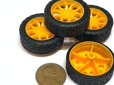 4 Pieces - Small Toy 30mm Diameter 2mm Shaft Car Robot Tire Wheel Dc 4pcs C20