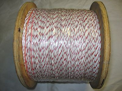 5000 Ft. 22 Awg 730 Hook-uplead Wire Whitered Mil-w-16878e1 Pvc Insul.