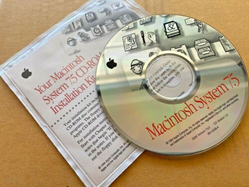 Vintage 1994 Mac System 7.5 Installation CD Version 1.0 691-0246-A Free Shipping
