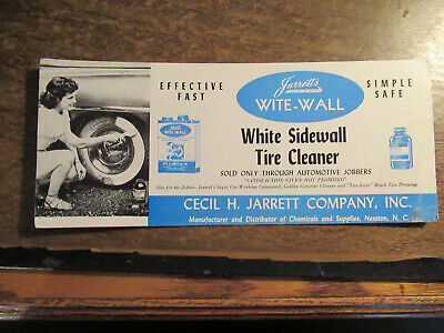 Vintage Cecil Jarrett WITE-WALL Tire Cleaner INK Blotter ADVERTISING
