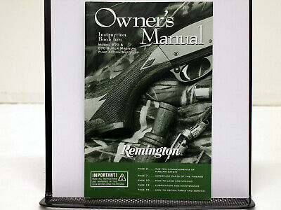 """11 Pages Remington Model 870 """"Competition"""" Trap Field Service Manual #50"""