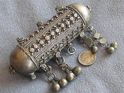 HUGE Antique Silver Islamic Herz  Prayer Box Pendant  Afghanistan? India?