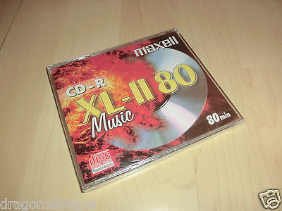 Maxell CD-R XL-II, 80 Minuten / 700MB OVP&NEU, Audio CD-R Rohling