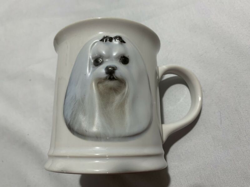Vintage Maltese Dog 3D Coffee Tea Cup Mug Barbara Augello Xpres Best Friends