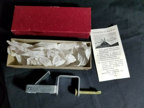 Vintage Clamp Type Braid Holder With Box