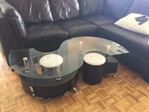 Glass top Coffee table (minor scratches )