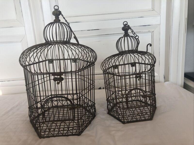 Vintage Birdcages - Set Of 2