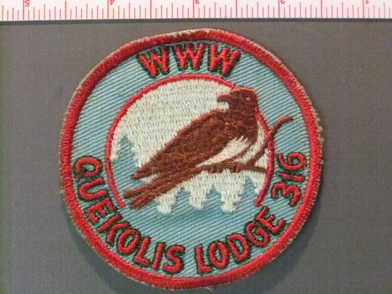 Boy Scout OA 316 Quekolis round 4656JJ