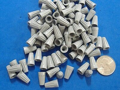 100 Gardner Bender Small Gray Wire Gard Connector Twist Conical Nut Nuts