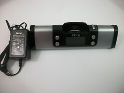 iHome IP16G Portable Speaker System Dock Silver and Black Tested and Works