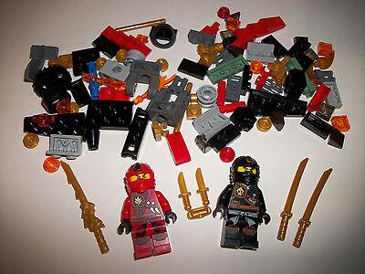 Lego Figure Minifigure Ninjago Ninjas x2 + Pieces Lot Gift Toy AUTHENTIC LEGO®