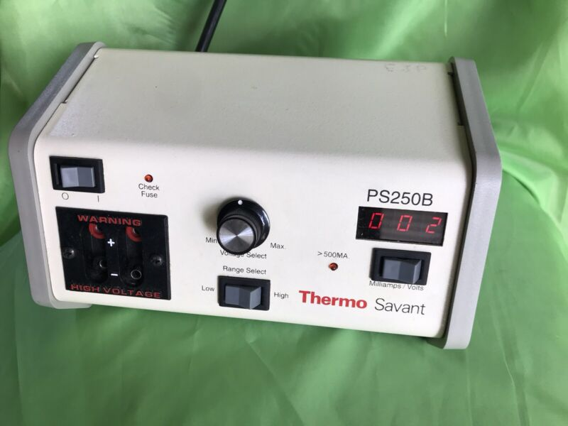 Thermo Savant PS250B Compact Electrophoresis Power Supply with 2 Output Jack