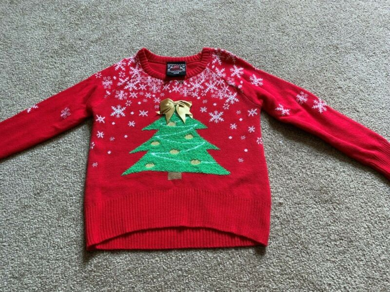 NWT Baby Girls Well Worn Brand Holiday Christmas Tree Sweater - Size 12 Months