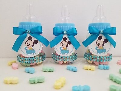 Baby Shower 12 Baby Mickey Mouse Favor Bottles Prizes Games Boy Blue Decorations](Baby Mickey Mouse Baby Shower Decorations)