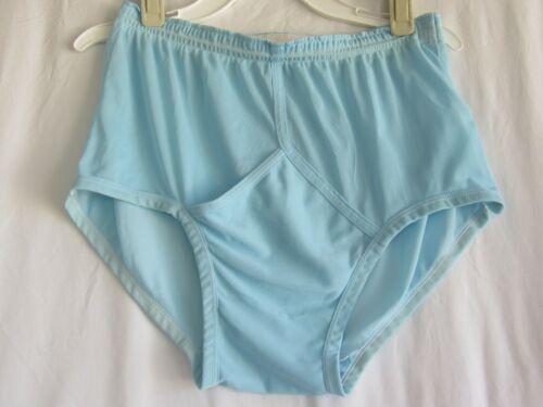 Vintage Mens Brief Underwear Medium 32 34 Jockey Blue Tricot Nylon