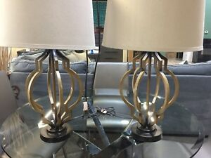 Gold Spiral Table Lamps