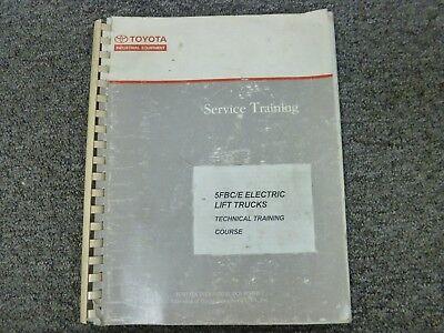 Toyota 5fbc 5fbcu 5fbe Electric Forklift Lift Truck Shop Service Repair Manual