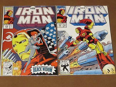IRON MAN # 276 - 277 NM COMPLETE RED OKTOBER STORY ARC BLACK WIDOW JOHN BYRNE
