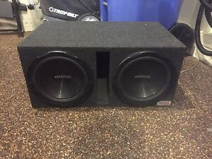 Subwoofers + Box and Amp