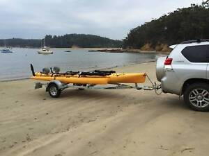 Hobie Tandem Island Sailing and Fishing Kayak With Dunbier Heavy