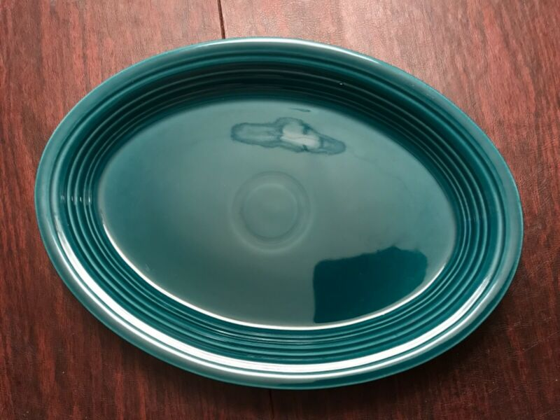 Fiestaware serving platter juniper green