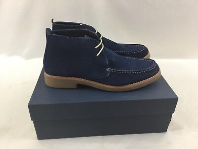 Joseph Abboud Men's Winston Lace Up Loafers Boots Navy Suede Shoes Size 10.5