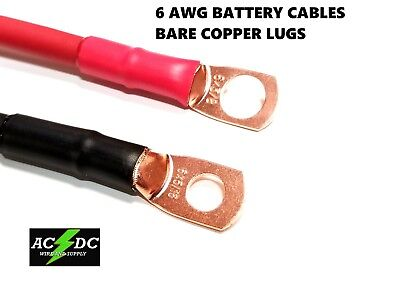 6 AWG Copper Battery Cable Power Wire Car, Marine, Inverter, RV, Solar Marine Inverter