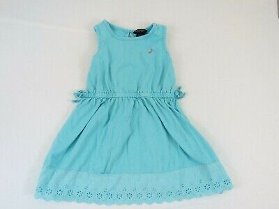 Nautica Toddler Girl Dress Size 4T Blue Sleeveless