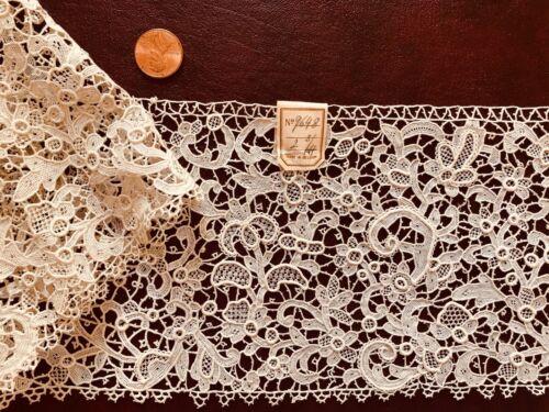 Vintage 19th C. Point de venise needle lace new old stock