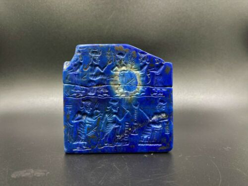 Antique Lapis Engraved Carved Tablet Plank From Ancient Historic Civilizations