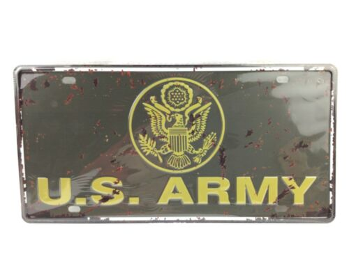 U.S. ARMY Metal Auto Vehicle Car Truck License Plate Collectible Man Cave Decor