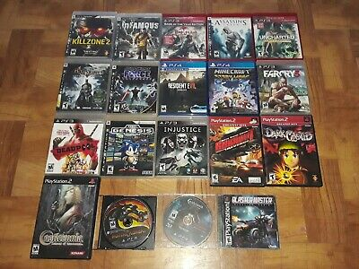 Lot of 19 Playstation PS1 PS2 PS3 PS4 Games: Castlevania Deadpool Resident Evil