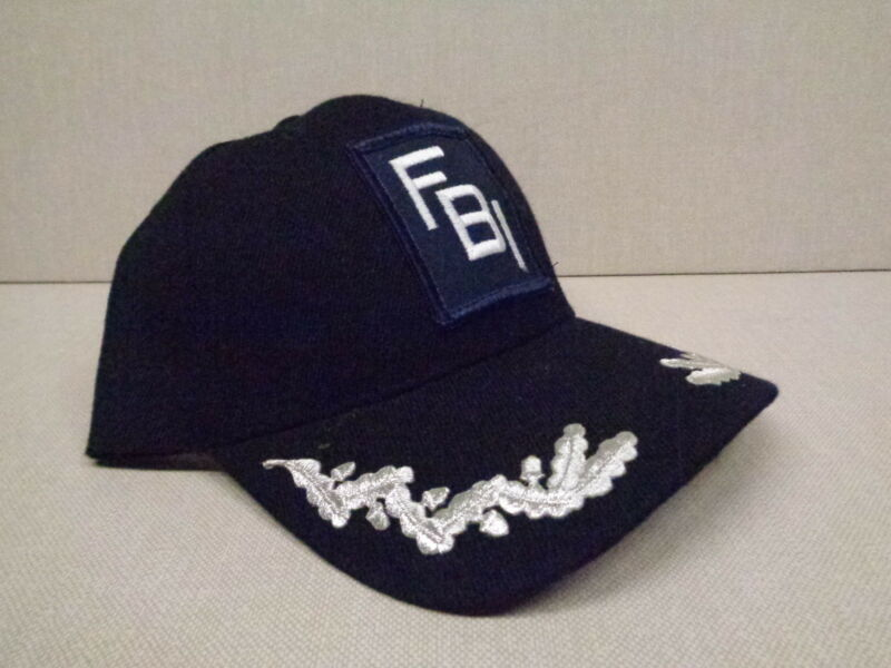 """NOVELTY FBI BALL CAP (AS SEEN ON TV) WITH PATCH AND """"SCRAMBLED EGGS"""", NON ISSUE"""