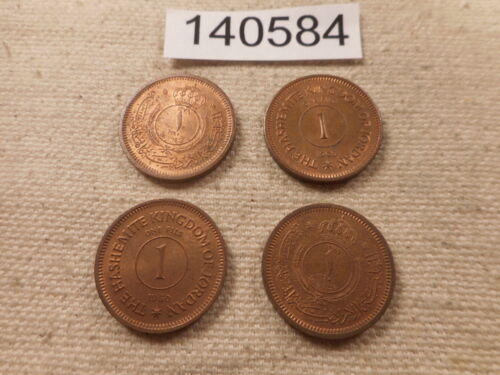 Lot - Four (4) Jordan 1 Fils - Very Nice Collector Grade Album Coins - # 140710