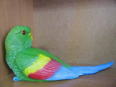 Parrot Sculpture Bird Statue Outdoor Décor Garden Large Yard Wildlife Figurine