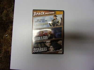 Lawman / Hour of the Gun / Day of the Outlaw (DVD, TRIPLE FEATURE) RARE OOP