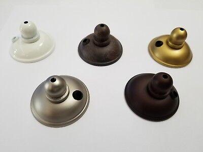 Ceiling Fan Bowl Light Kit Finial End Caps White Brush Steel Oil Rubbed Bronze Ceiling Fan Bowl Kit