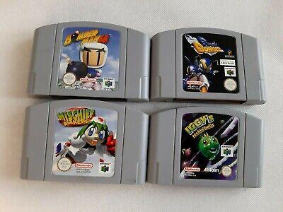 Nintendo 64 Lotto Cartuccie Bomberman 64 Buck Bumble Mischief Makers Iggy's Pal
