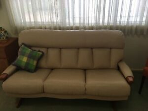 3 seater leather lounge SOLD