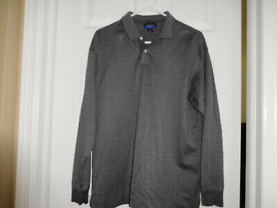 Nautica Long Sleeve Cotton Golf Rugby Polo Shirt Mens Size L