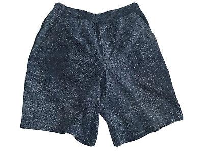 """Lululemon Men's Pace Breaker Short 9"""" Linerless Dark Blue Speckled Print Medium"""
