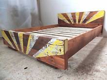 Rustic industrial recycled timber bed- DOUBLE Melbourne CBD Melbourne City Preview